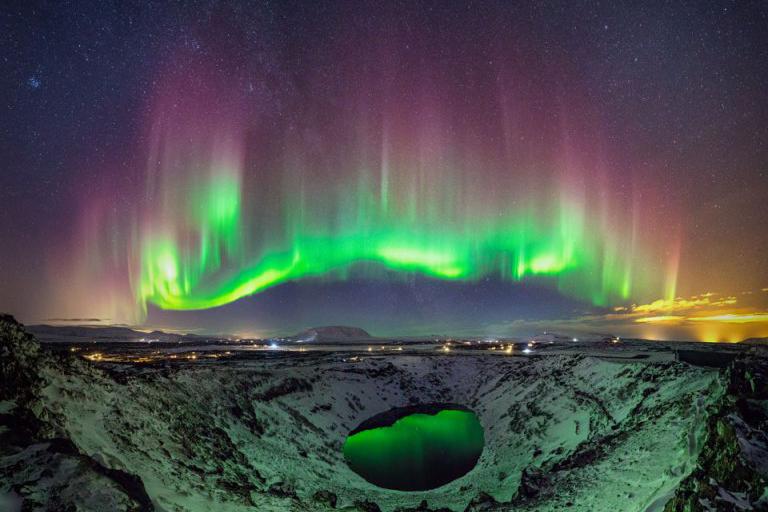 foto keren dan tampan aurora borealis