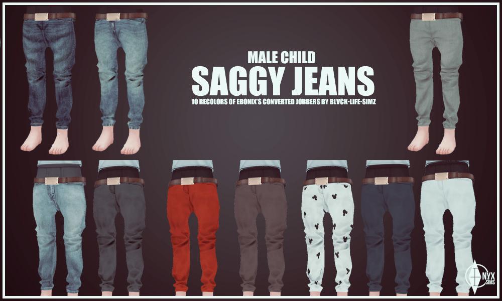 My Sims 4 Blog: Saggy Jeans for Boys by KiaraRawks