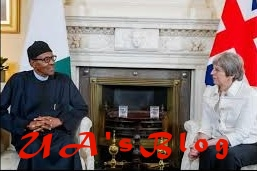BREAKING: Theresa May arrives Aso Rock to meet Buhari