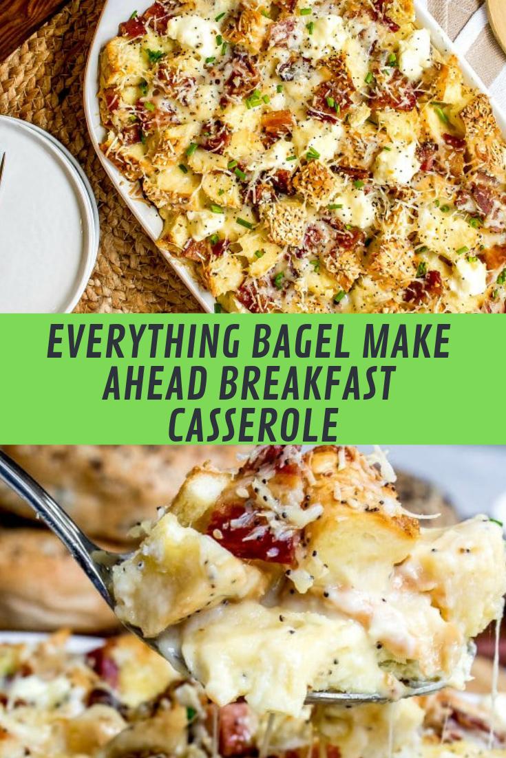 EVERYTHING BAGEL MAKE AHEAD BREAKFAST CASSEROLE RECIPE