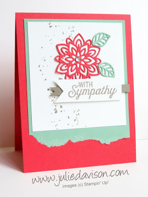 Stampin' Up! Flourishing Phrases Sympathy Card #stampinup www.juliedavison.com