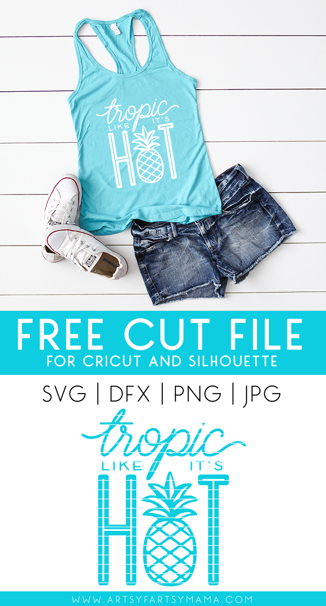 Tropic Like It's Hot Shirt with 14 Free Beachy Cut Files