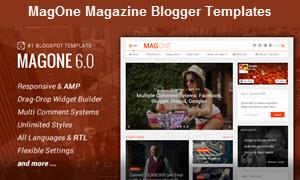 MagOne Magazine Blogger Templates