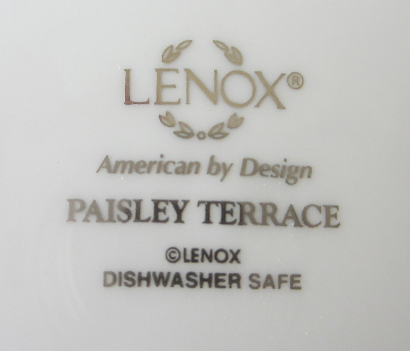Table For One Lenox Paisley Terrace Table