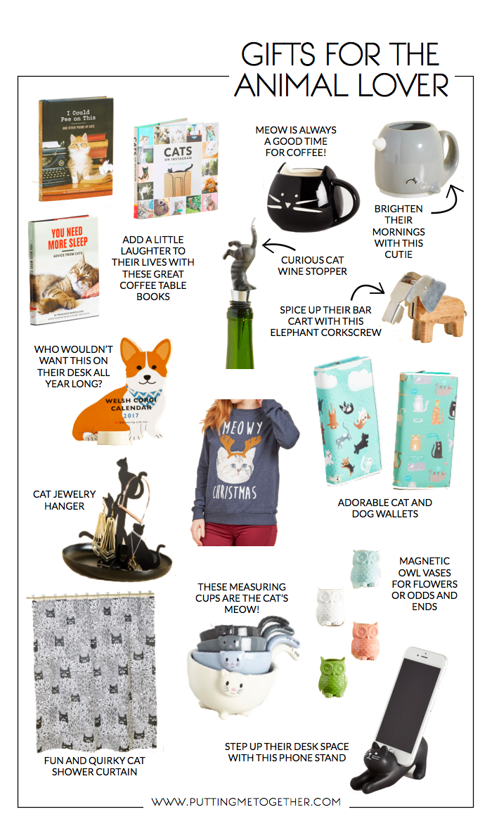 Putting Me Together: Gift Guide: The Animal Lover (and a ...