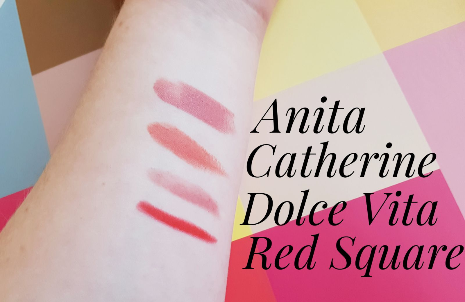 NARS Dolce Vita Swatch, NARS Catherine Swatch, NARS Anita Swatch, NARS Red Square Swatch