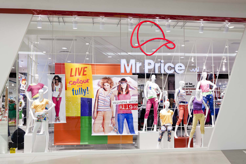 Shopping online at mr price