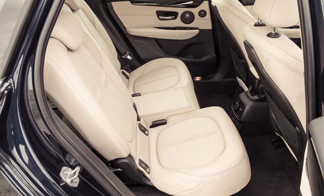 BMW 218d Active Tourer rear seating