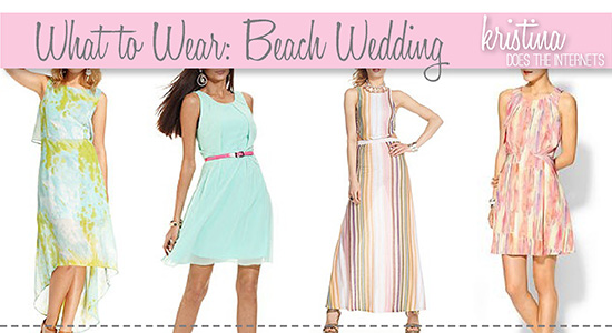 what to wear to a wedding at the beach