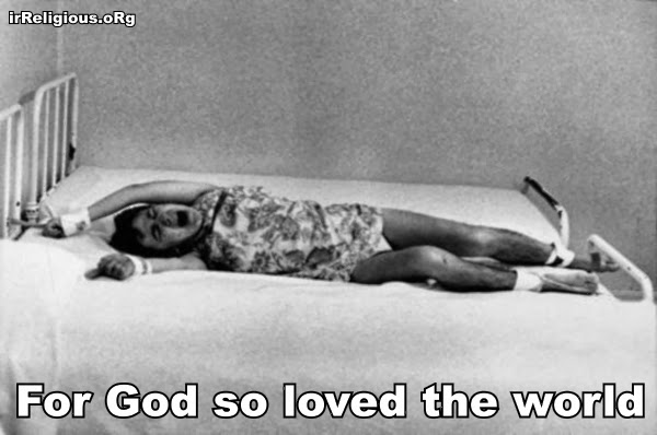 For God so loved the world picture  - that he allowed millions of children to suffer mental illness