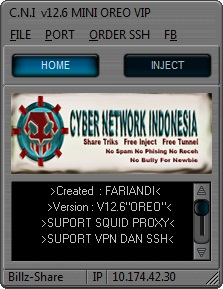 Inject Indosat C.N.I v12.6 MINI OREO VIP 17 April 2016