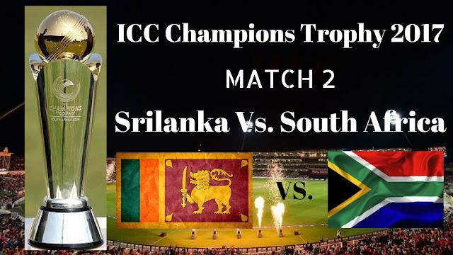 SL Vs. SA, Sri Lanka vs South Africa, 3rd Match Live Streaming ICC Champions Trophy 2017