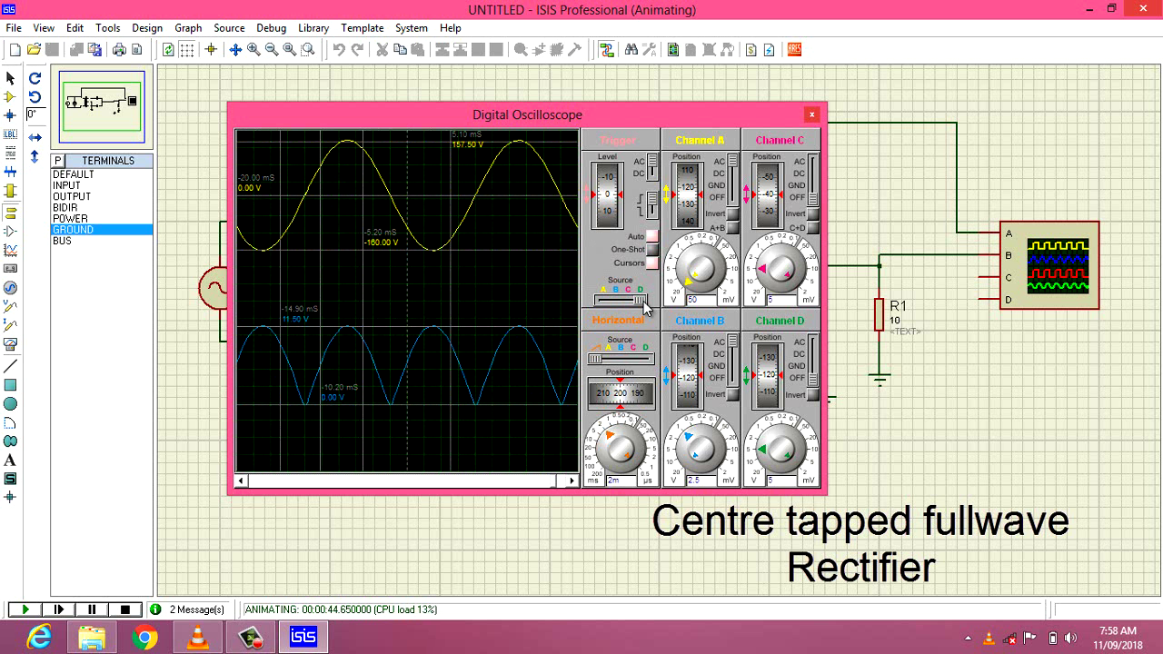 Guna Electronics Simple 10 Led Chaser Circuit Diagram Electronic Circuits Pinterest The Average Dc Output Voltage Is Higher Than For Half Wave Of Full Rectifier Has Much Less Ripple That