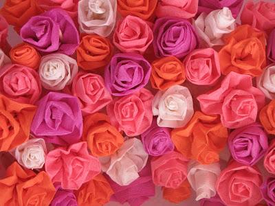 χάρτινα λουλούδια-τριανταφυλλάκια