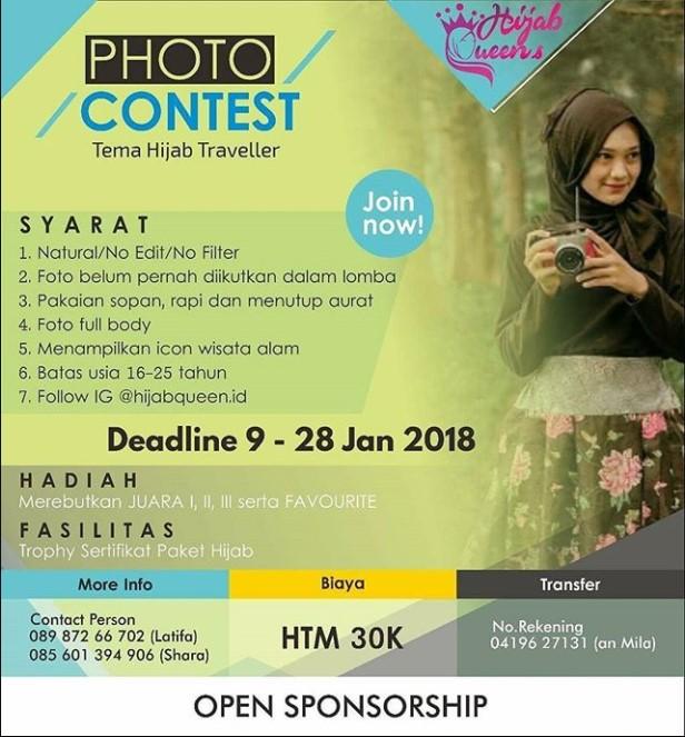 Photo Contest Hijab Queens 2018 Terbuka Untuk Umum | Deadline 28 Januari 2018 | Lomba.co
