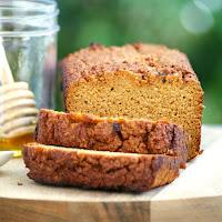 Best Healthy Paleo Pumpkin Bread Recipe - low fat, gluten free, grain free, low carb, sugar free, clean eating recipe, easy, simple, paleo