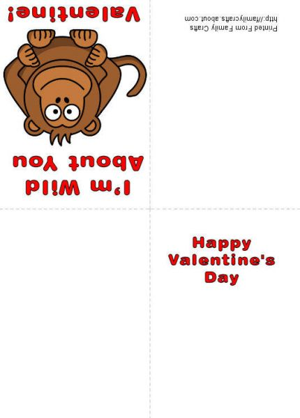photograph relating to Free Printable Funny Valentines Day Cards identified as Gitmo Place Enhance: HOW Towards Deliver A MONKEY PRINTABLE