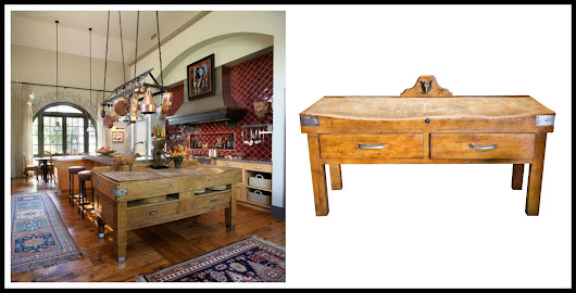 DOUBLE VISION: Antique French Butcher Block