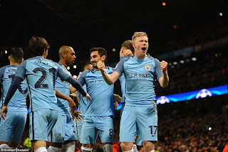 Bruyne Scores Against Marc-Andre