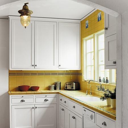 Cocinas Pequenas Con Muebles Blancos.Salvador Gutierrez Materiales De Construccion Ideas Para