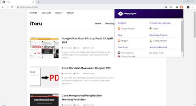 Google Chrome - Wappalyzer