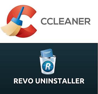 Print dos Logos dos programas Revo Uninstaller e o CCleaner