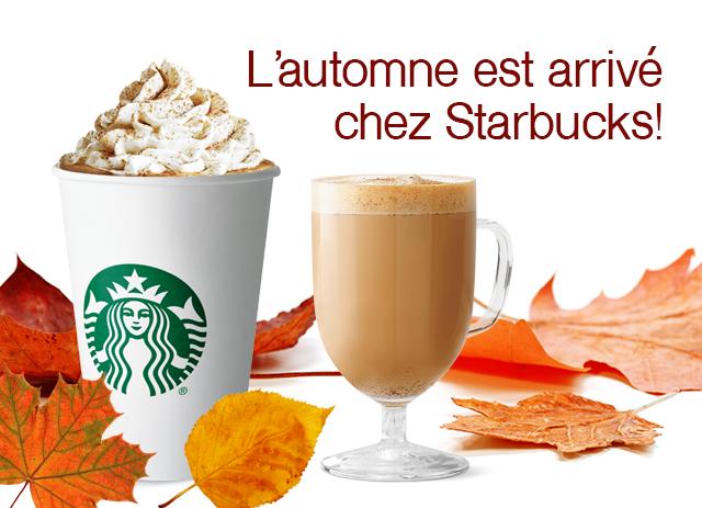 L'automne est arrivé chez Starbucks!