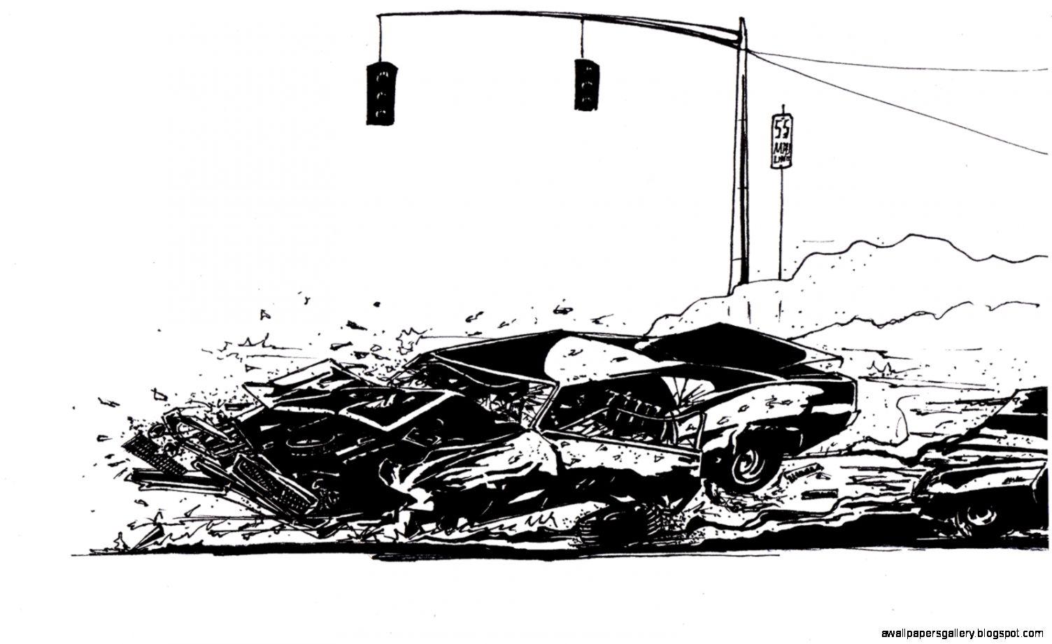 Easy Car Crash Drawing Derek Underwood Car Crash Jef Car Wallpaper
