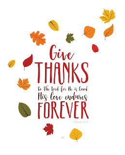 LostBumblebee ©2016 Give Thanks to The Lord, Thanksgiving Printable, Home decor, Personal use Only, www.lostbumblebee.net