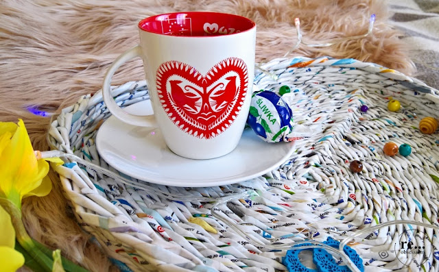 heart, paper weaving, braiding, heart basket, diy, wicker paper, tray, papierowa wiklina, koszyk serce, taca serce, jak upleść koszyk serce, recycle, upcycle