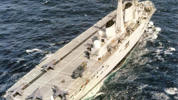 Britain put an aircraft carrier warship for sale .. It ...
