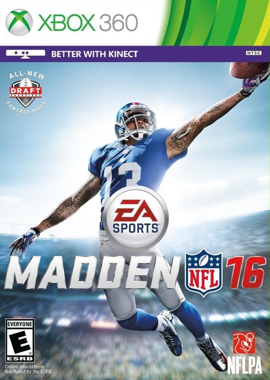 Madden NFL 16 XBOX 360 Cover Caratula