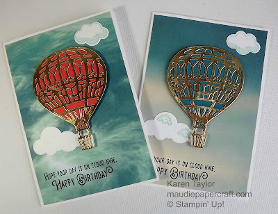 Stampin' Up! Lift Me Up birthday card