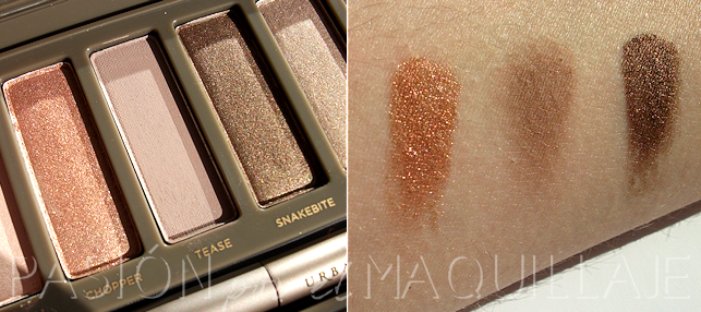 Swatches Naked 2 Urban Decay