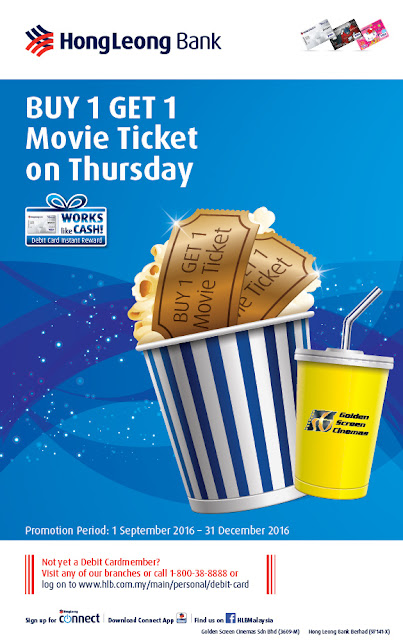 GSC Cinema Buy 1 Free 1 Movie Ticket Hong Leong Bank Promo