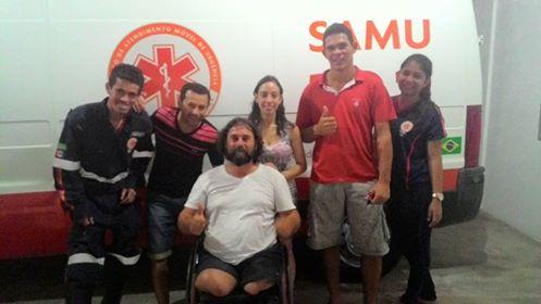 Olho D'Água do Casado : Professor vítima de acidente automobilístico faz agradecimento a equipe do Samu que fez seu resgate