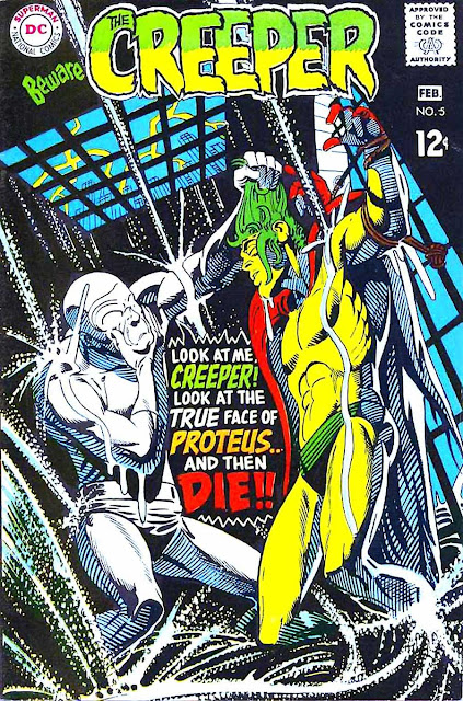 Beware the Creeper v1 #5 dc 1960s silver age comic book cover art by Steve Ditko