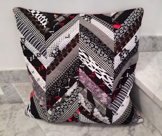 Zigzag quilted cushion cover pillow case craftrebella