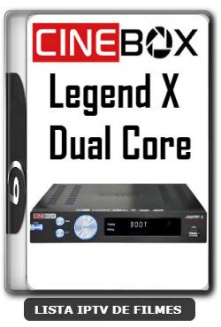 Cinebox Legend X Dual Core Melhorias no IKS Nova Atualização - 09-01-2020