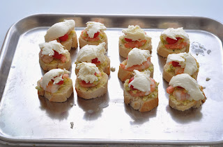 Garlic Prawn and Mozzarella Bruschetta's ~ Simple Food