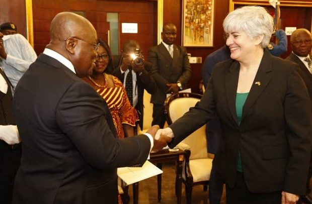 New US Envoy, Three Others Present Letters Of Credence To Akufo-Addo