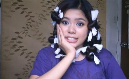 Cách làm tóc xoăn tự nhiên bằng dây chun-3
