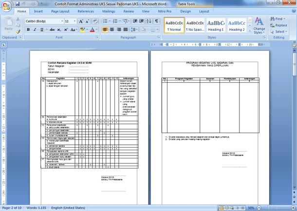 File Pendidikan Contoh Format Manajemen Uks Sesuai Fatwa Uks