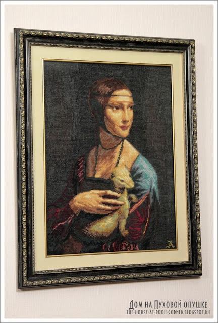 Вышивка портрет ЧM 295 Дама с горностаем
