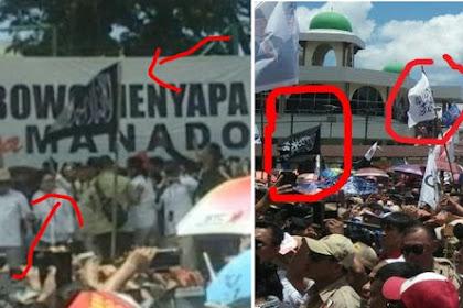 Bendera Tauhid Yang Berkibar Saat Kampanye Prabowo Dipersoalkan Kubu 01