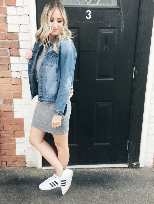 5d3cd746650 Adding different styles like this embellished denim jacket adds a little  something extra to an everyday outfit. To me denim jacket will NEVER ...