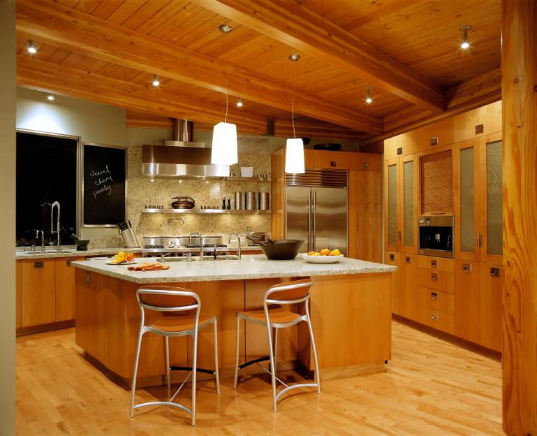 Ruang Dapur Rumah Kayu