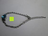 Armband: Fashmond Schmuckset Schmuck-Sets eine Ohrringe, ein Armband und eine Halskette Kette mit Anhänger für Frauen Mädchen Blau aus Kristall