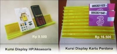 Harga Kursi Pajangan Display Kartu Perdana dan Handphone serta Aksesoris
