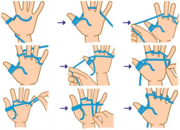 Aprender la tecnica Yubiami o tejer con los dedos